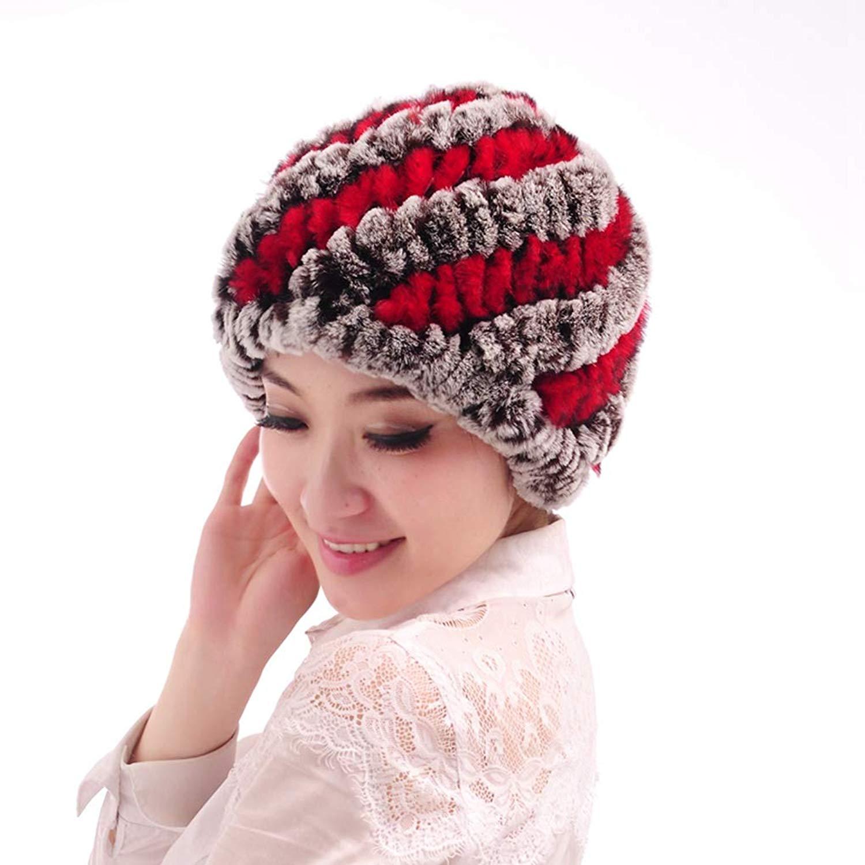 49fe080981b Get Quotations · Winter Women Hat Cap Rabbit Fur Hat Fashion Warm Rabbit  Knit Hat Real Rabbit Hair Pineapple