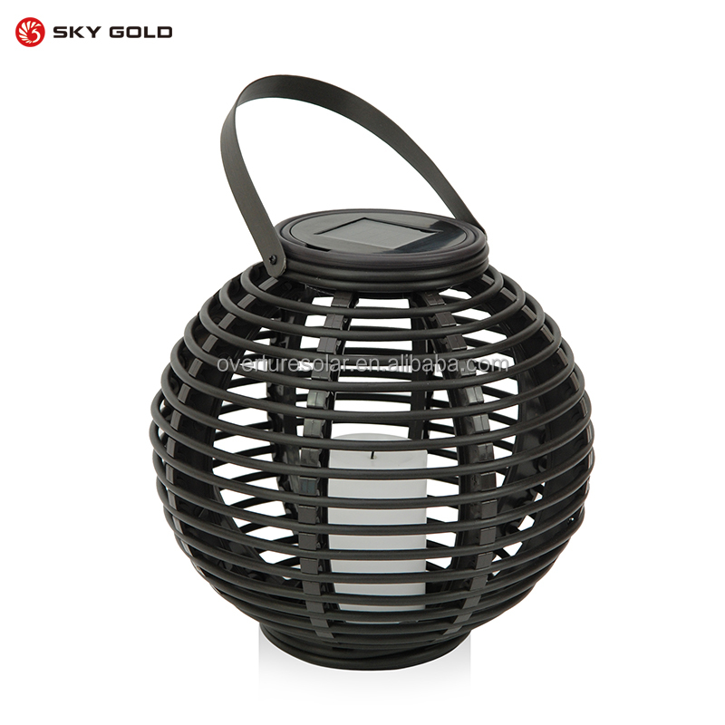 New garden lights mood setting solar lantern with flame like led
