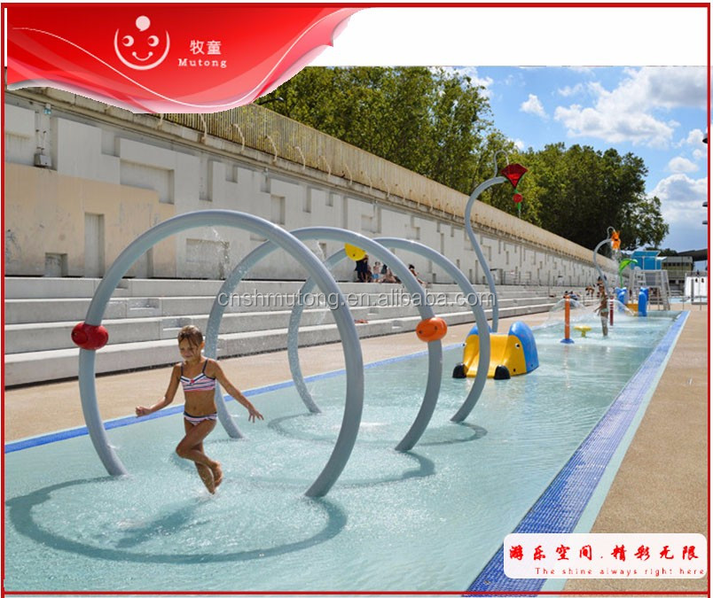 Residential Free Water Play Parks Splash Zones For Sale