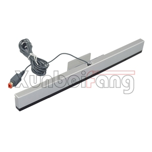 Wired Infrared Ray Inductor Sensor Bar for Wii Console Silver