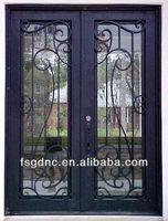 Custom Iron Scroll Work Door