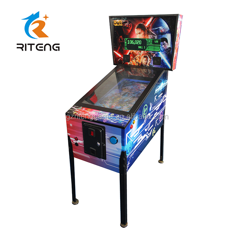 Chinese coin operated games kinderen 3D video pinball arcade machine