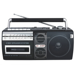 Vintage cassette tape recorder with AM FM radio USB Mp3 Music Player