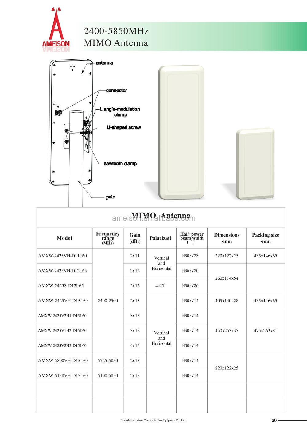 China Cpe Antenna Manufacturers And Suppliers On 2x15 Wiring Diagram
