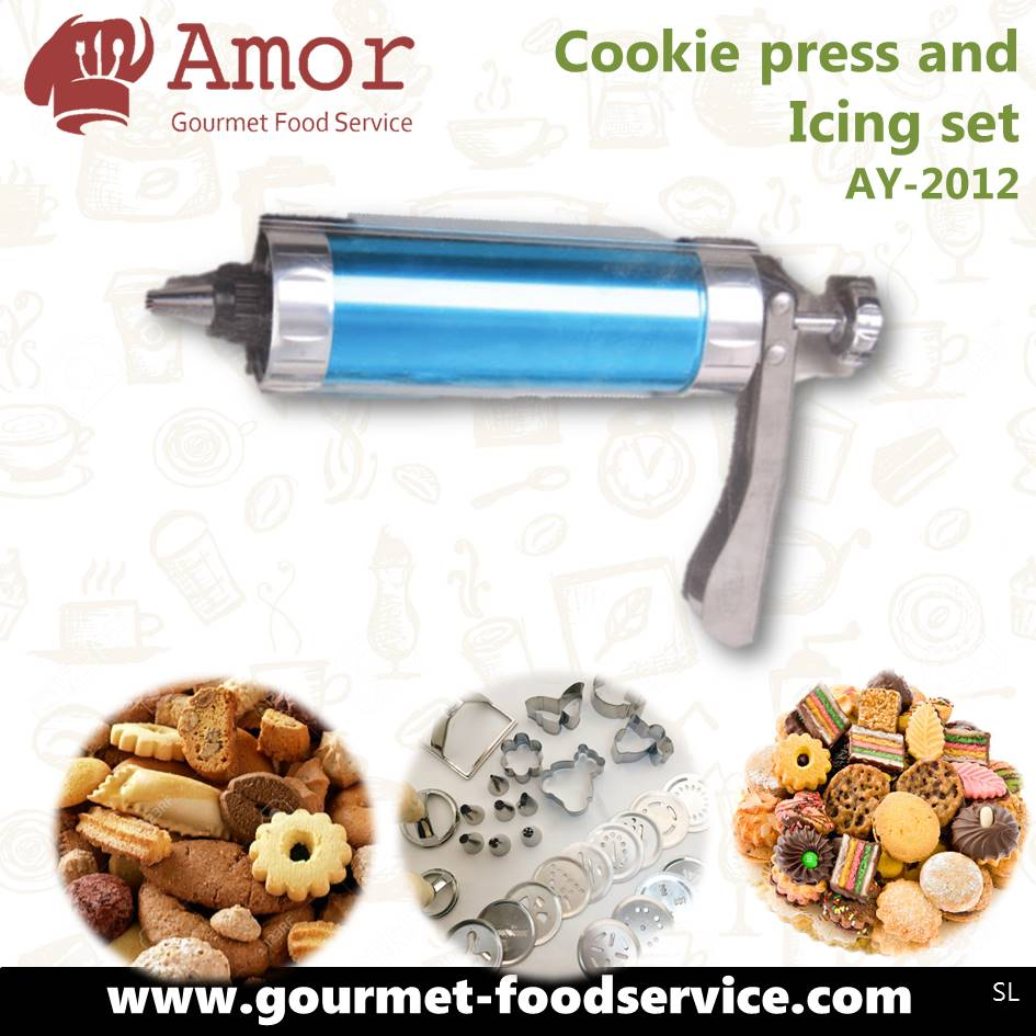 world-wide renowned kitchen tools customized your own home made cookies with biscuit press and icing set