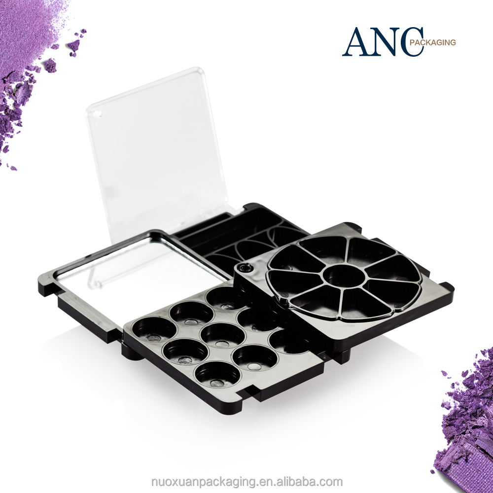 ANC star product high quality technical craft black big eyeshadow palette make your own brand professional design manufecturer