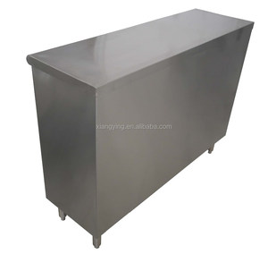 Kitchen sliding doors stainless steel metal tool cabinet