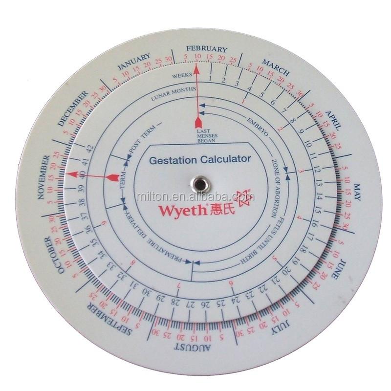Gestation Calculator Baby Born Wheel Pregnancy Goniometer Expected
