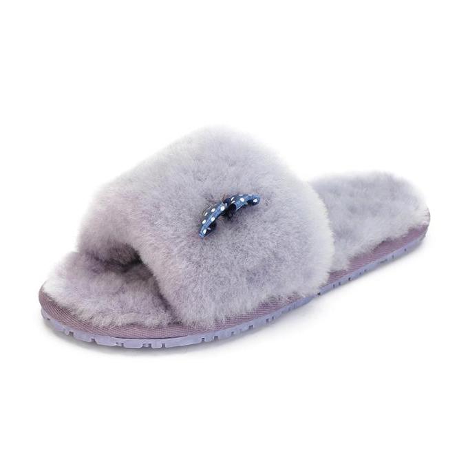 2081d0301 China sheepskin slippers women wholesale 🇨🇳 - Alibaba