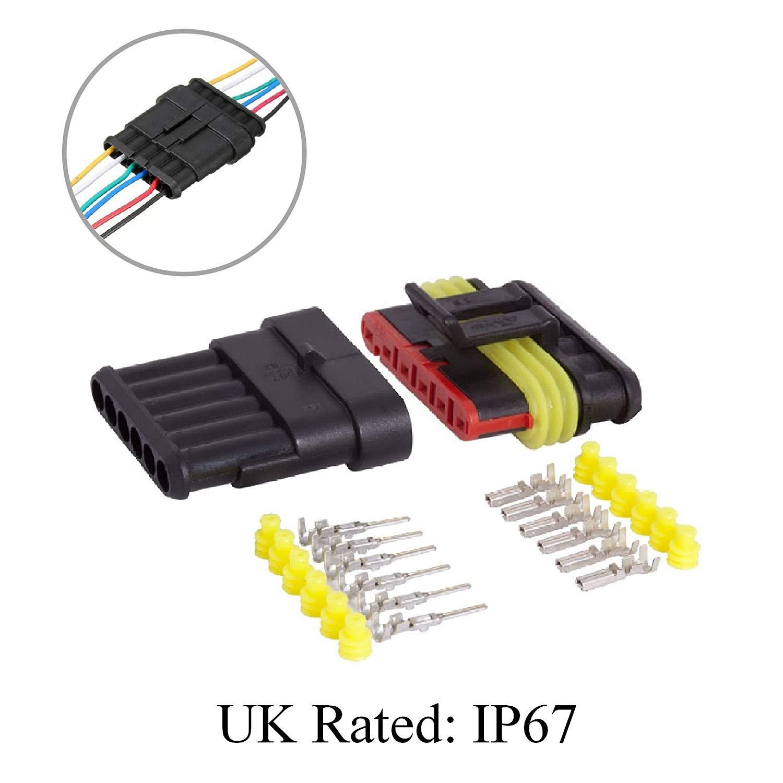 buy mid ulster 2 way superseal waterproof electricial connector plug