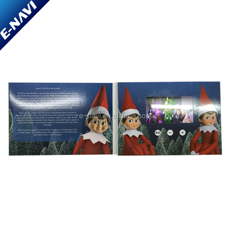 CustomLcd Video Brochure Greeting Card For Company Marketing