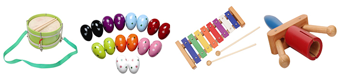 Musical instrument orff percussion wood colorful claves hit toy