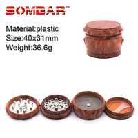 GP076441 40MM 4 layer Plastic Hand Muller Smoking Crusher Tobacco Herb weed Grinder weed