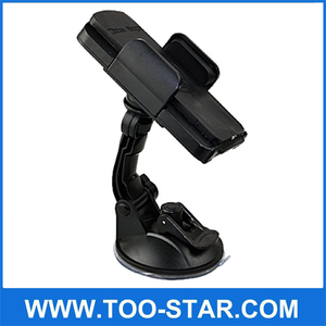 2014 New products with holder stand 360 degree rotation mobile phone qi wireless car charger
