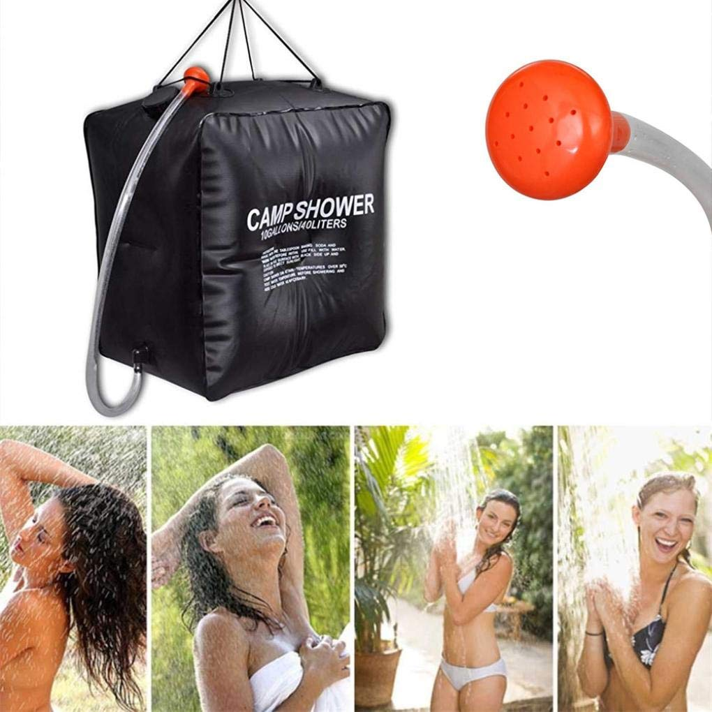 Dreamyth 40L Portable Solar Heated Shower Water Bathing Bag Outdoor Camping Hiking