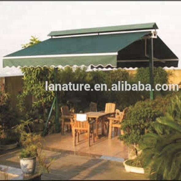 1.6x3M Retractable Garden Side Awning Screen Patio Sunshade Blue Terrace Steel