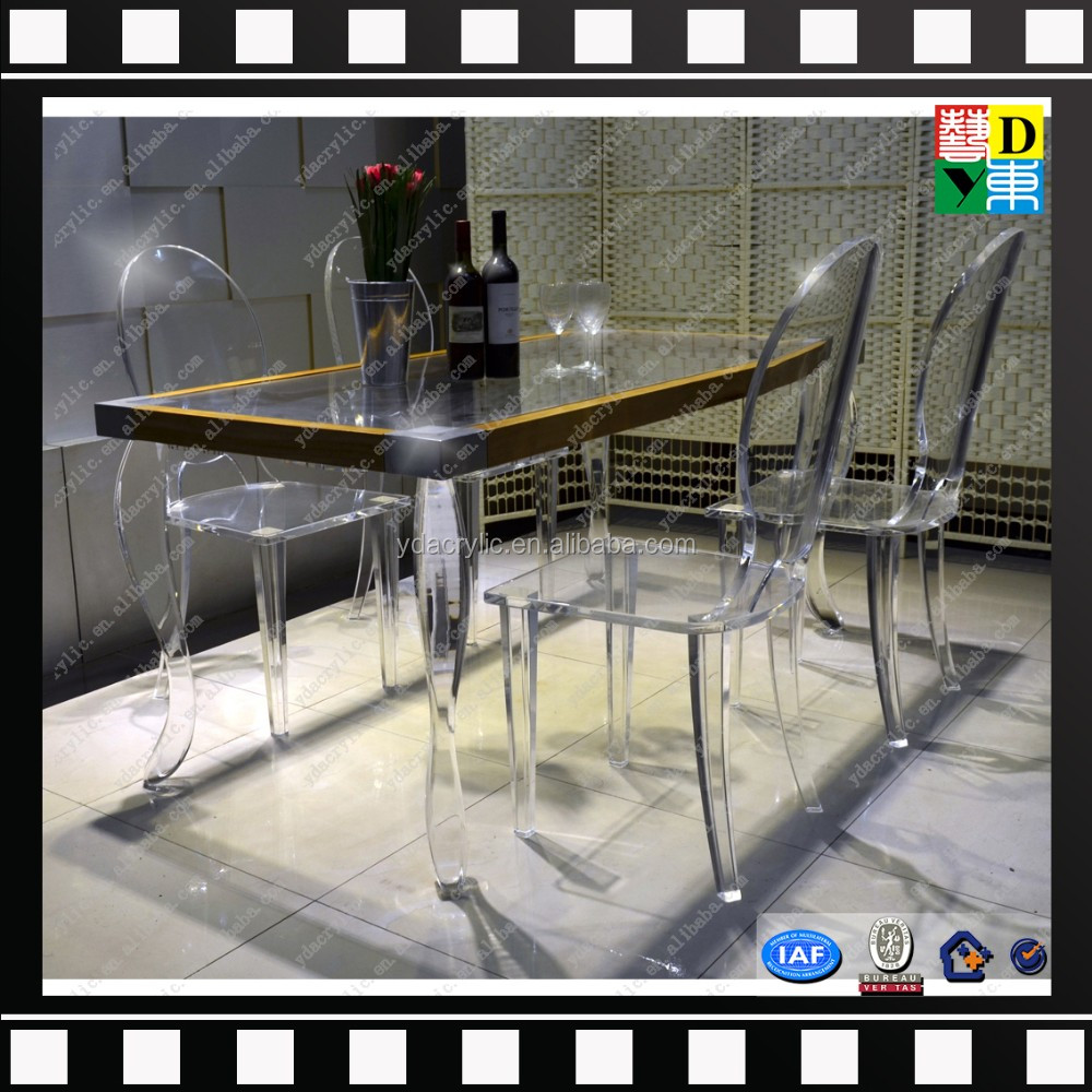 2016 Modern Design Of Clear Acrylic Lucite Dining Table With ...