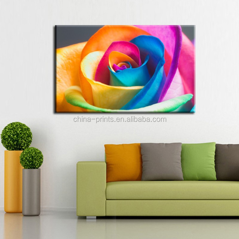 Colorful rose flower canvas prints art new wall decor art for Canvas prints to buy