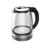 KT201 Hot sales 1.8L 360 degree cordless base electric Glass Kettles