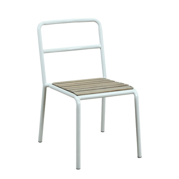 Bon Mid Century Industrial Scandinavian Solid Recycled Reproduction Furniture  Powder Coating Steel Tube Frame Wood Dining Chair