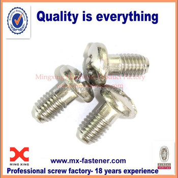 Pozidriv slotted partial thread stainless steel screw