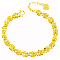76933 Xuping costume jewelry charm bracelet, gold color 24k gold bracelet, rose copper alloy bracelet women