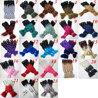 Synthetic Braiding hair 24inch 100g ombre two tone colors jumbo braids Twist Hair Extensions