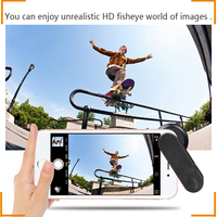 Super Fisheye 210 Degree mobile phone Camera Lens For iPhone Samsung