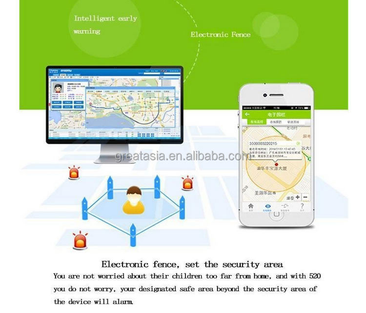 Great Asia GPS520 gps watch tracker for kids , Kid GPS tracking calling watch