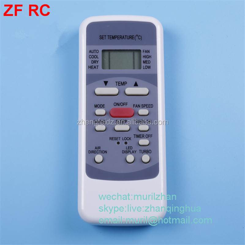 Zf White 16 Keys Gz09-be00-006 Air Conditioner Remote Control With ...
