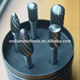 Hard Steel Removal Tungsten Carbide Rotary Burr Sets/ hard metal tungsten carbide rotary burrs for metal machining