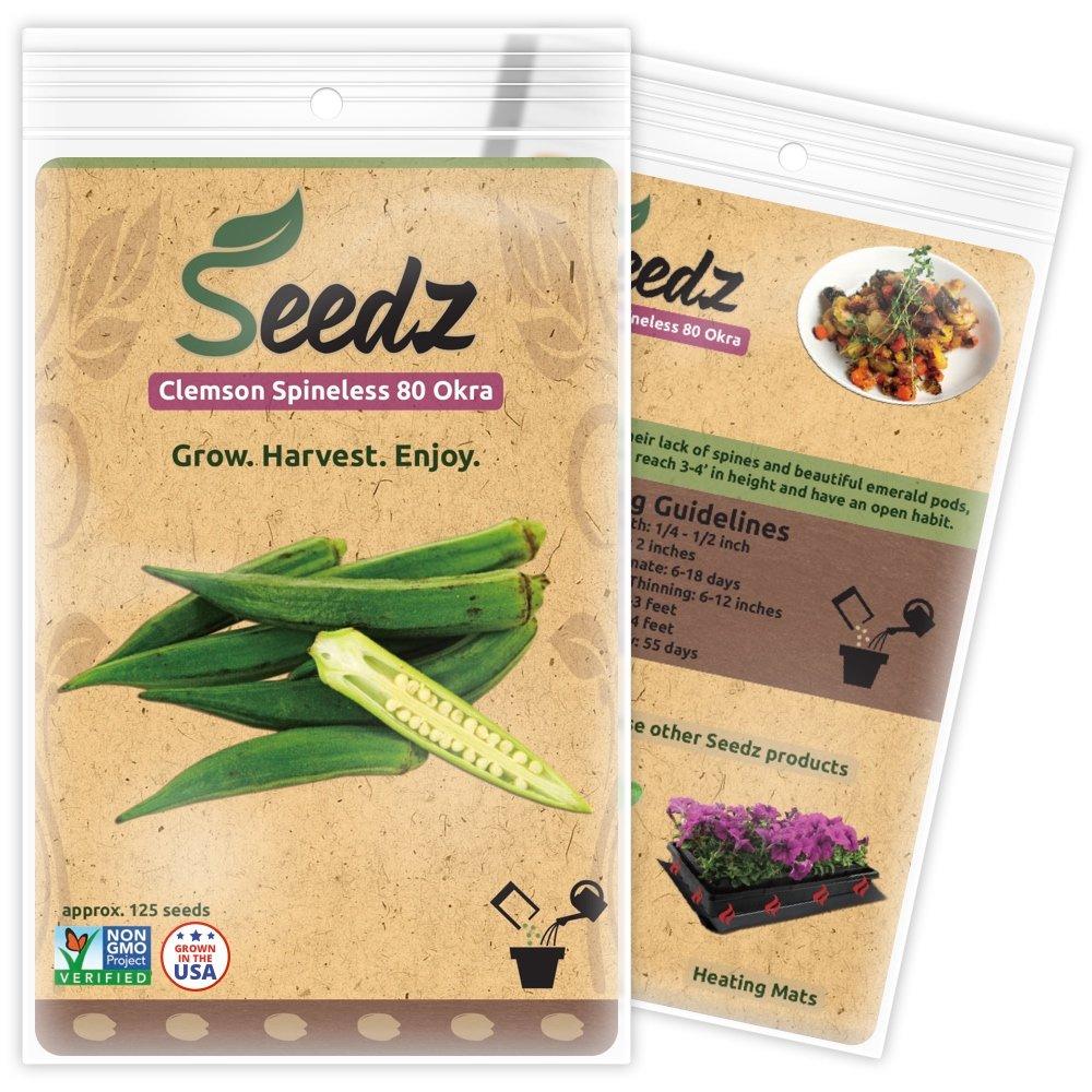 25+ Seeds Organic Heirloom Perkins Long Pod Okra Seed Okra Seeds Non Gmo