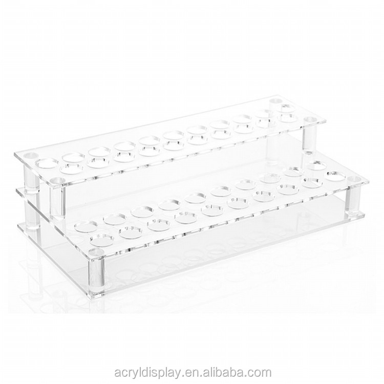 2018 New design clear acrylic lipstick display stand PMMA lipstick holder