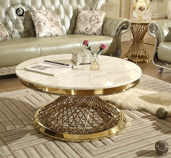 Luxury Round Marble Coffee Table Sets
