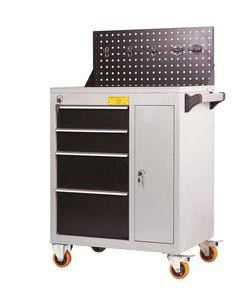 Muti-functional mobile tool cabinet us general too box with lock and key