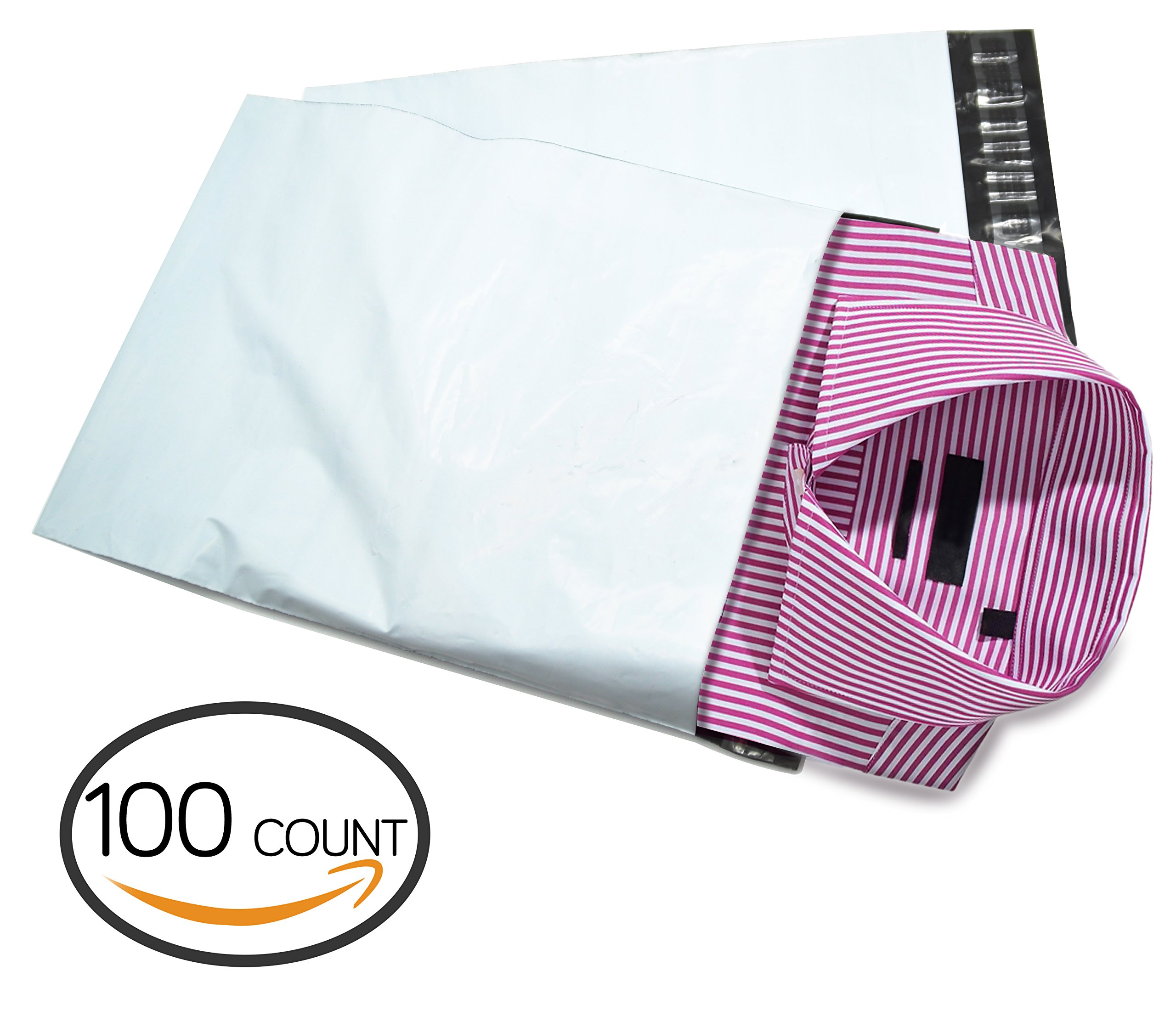 Poly Mailer,C-Pak 12.5X15.5 inch Premium Shipping Bags | Envelope Mailers Pack of 100pcs (12.5X15.5)