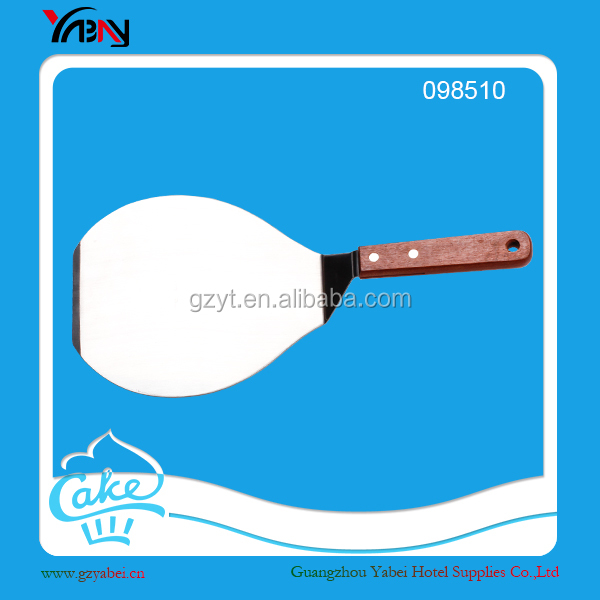 Cake shovel wooden handle with stainless steel pizza shovel