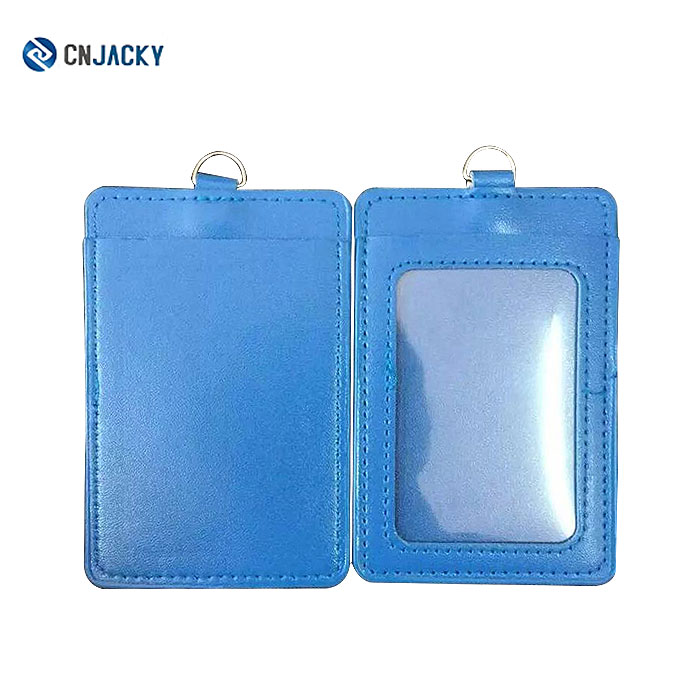 Customized Business Card Case A4 Pvc / Id Card Tag Holder Leather ...