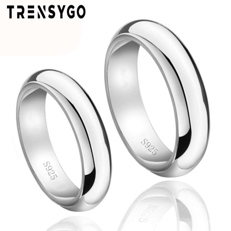 Silver 925 rings white plain wedding 링 은 대 한 men 및 women silver 링 비 웁니다 CY142