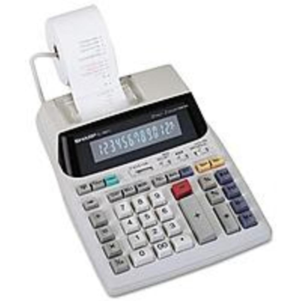 Sharp EL1801V 12-digit 2-color 2.1 LPS (Lines Per Second) Serial Printing Calculator