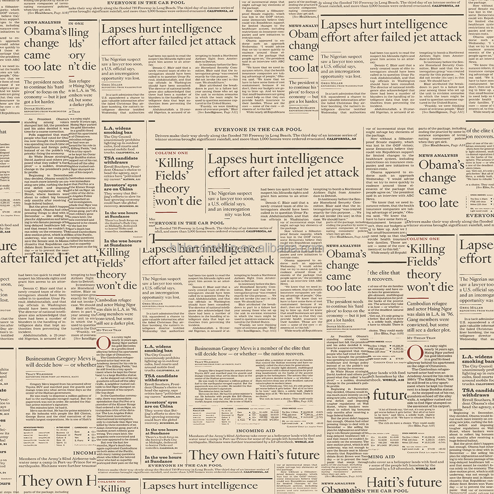 characteristics of old newspaper design wallpaper buy