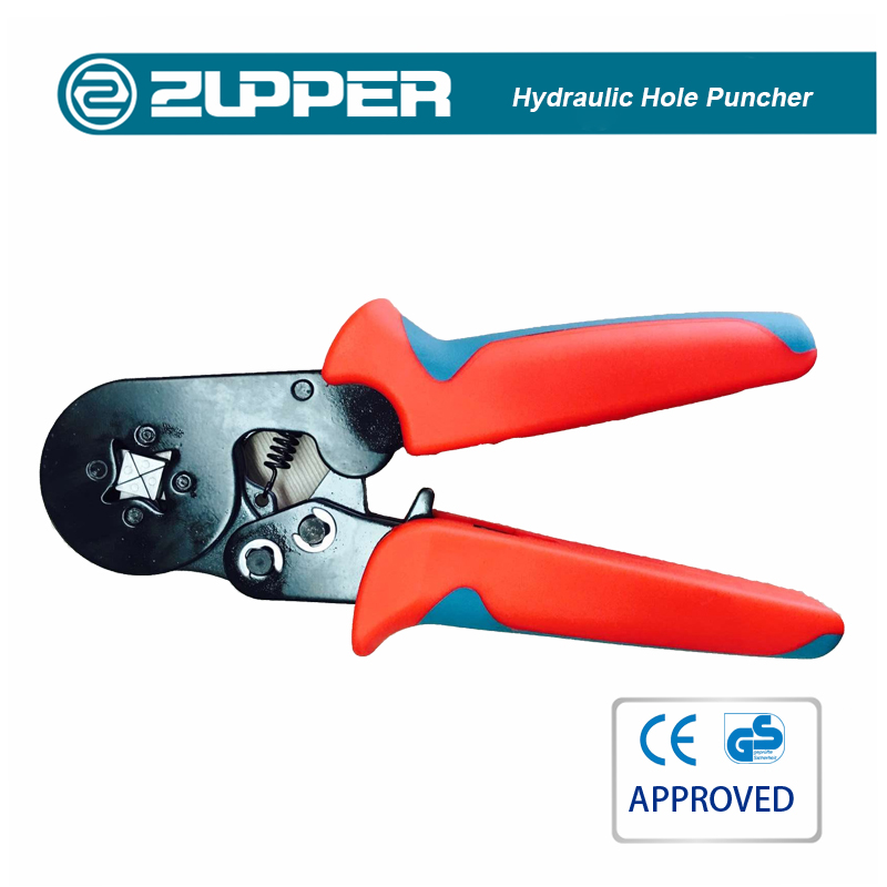 Zupper HSC86-4A Crimper Plier Set 0.5-6.0mm Self-adjustable Ratchet Wire Crimping Tools Ferrule Insulated Crimper