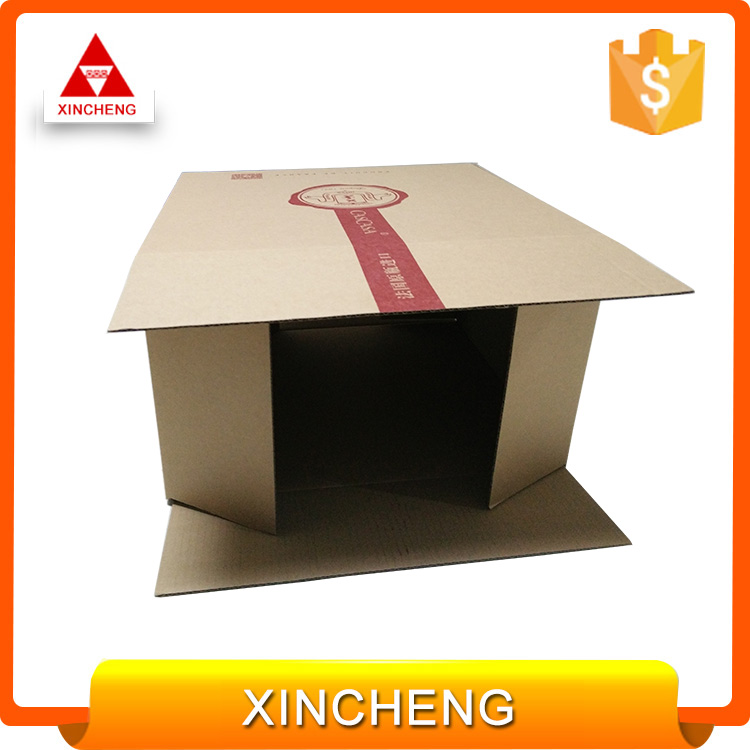 Cardboard shipping durable cheap big brown corrugated paper carton box