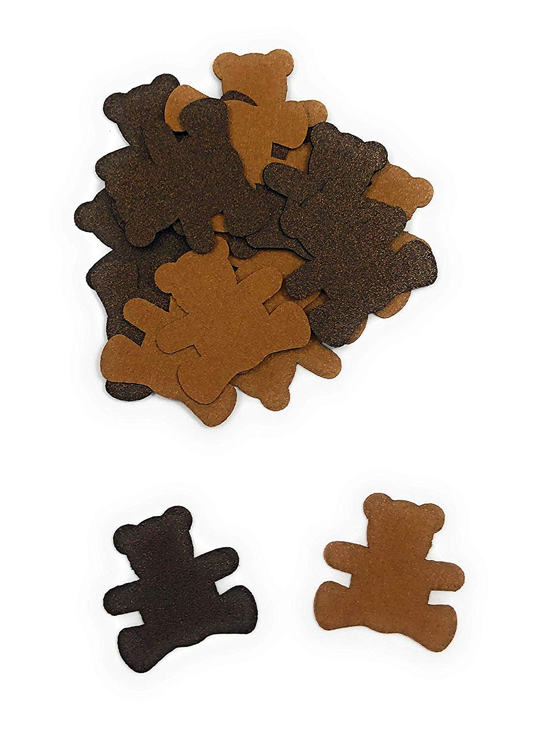 Teddy Bear Confetti in Light and Dark Brown - 100 Pieces
