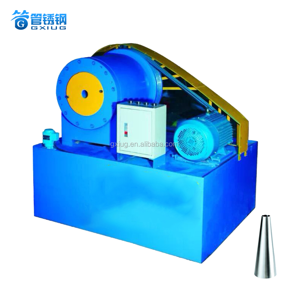 Manual Metal Steel Pipe End Shrinking Machine equipment Pipe Taper Reducing Machine With Low Noise