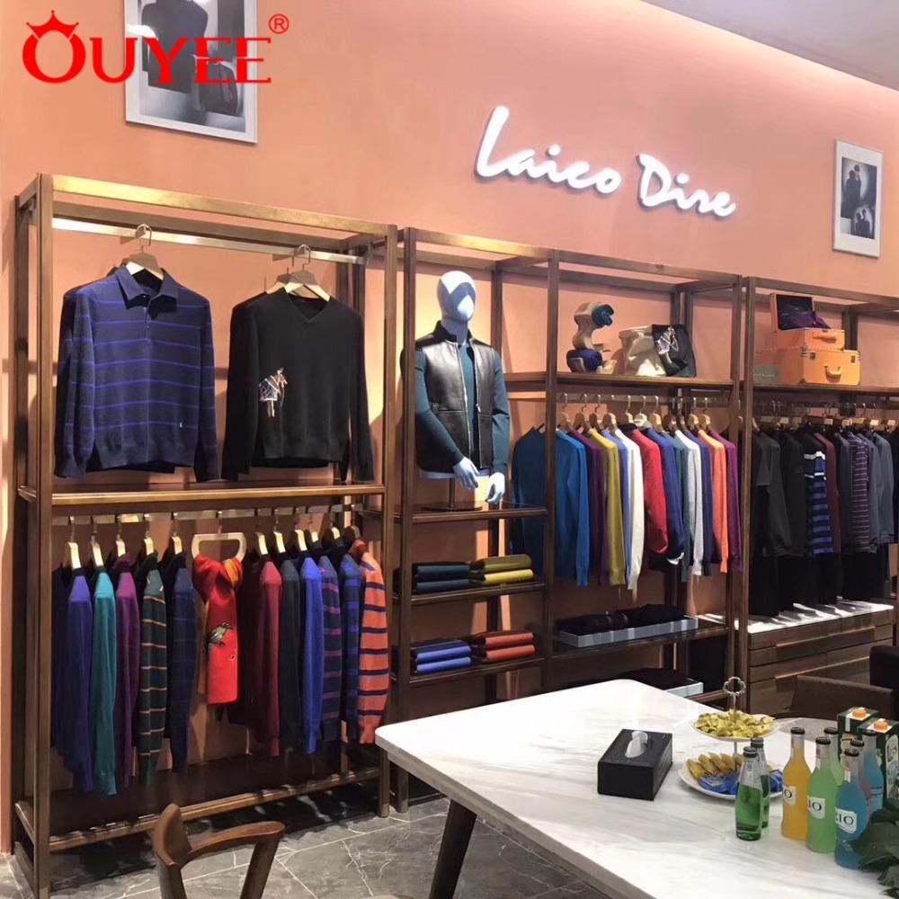 Mdf Commercial Modern Garment Decoration Furniture For Men Clothing