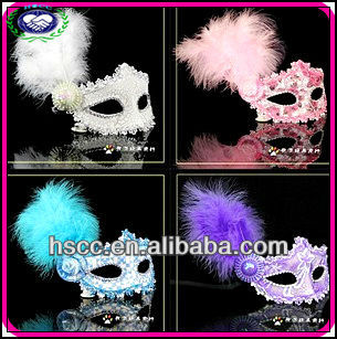2015 Hot Selling High Quality Lace Feather Masquerade Venetian Masks