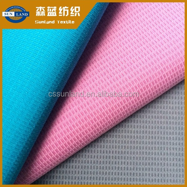 China factory 100% polyester quick dry fit anti-UV mini check knit fabric uv protective for summer sportswear