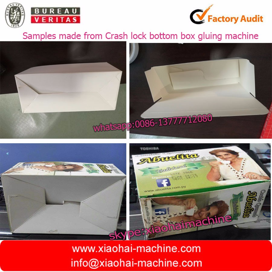 Best quality professional paper box folder gluer gluing machinery