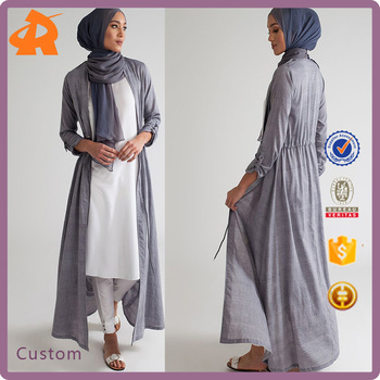 2019 custom simple dubai islamic clothing abaya dress,women new front open abaya kimono